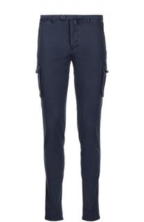 Хлопковые зауженные брюки с накладными карманами Kiton