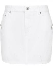 Мини-юбка с карманами и потертостями Givenchy
