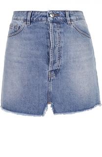 Джинсовая мини-юбка с карманами и бахромой Iro