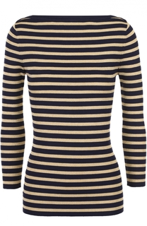 Облегающий пуловер в контрастную полоску с вырезом-лодочка Michael Kors
