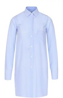Шелковая удлиненная блуза в полоску Valentino