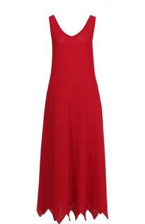Вязаное платье-макси без рукавов Alaia