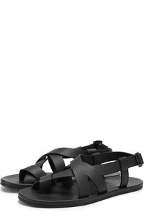 Кожаные сандалии на плоской подошве Lanvin