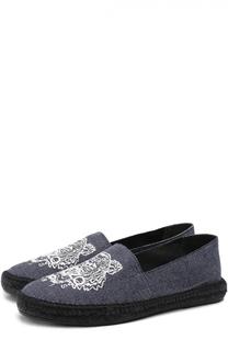 Текстильные эспадрильи с вышивкой на джутовой подошве Kenzo