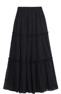 Кружевная юбка-макси с эластичным поясом Poustovit