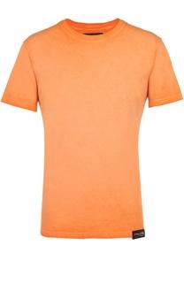 Хлопковая футболка с фактурной отделкой на груди Philipp Plein