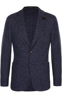 Однобортный приталенный пиджак из смеси хлопка и шерсти Windsor