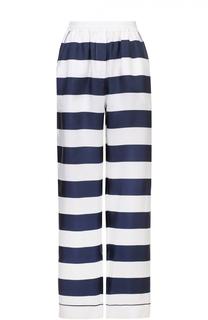 Шелковые брюки в пижамном стиле в контрастную полоску Dolce & Gabbana