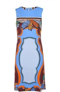 Мини-платье прямого кроя с цветочным принтом Emilio Pucci