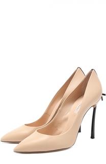 Кожаные туфли с бантом на шпильке Blade Casadei