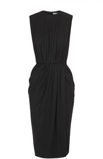 Приталенное платье-миди с драпировкой Givenchy