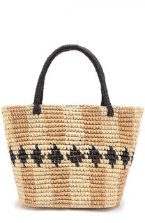 Плетеная сумка с орнаментом Sensi Studio