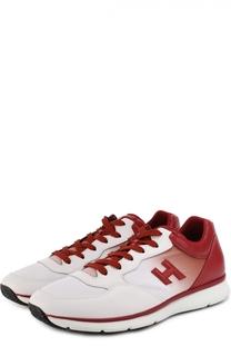 Комбинированные кроссовки с эффектом деграде Hogan