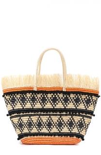 Плетеная сумка с декором Sensi Studio