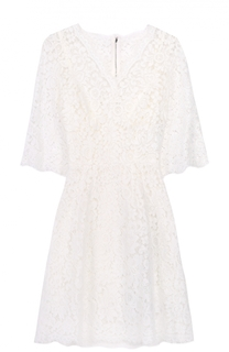 Приталенное кружевное мини-платье Dolce & Gabbana