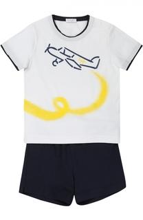Комплект из футболки и шорт с принтом Il Gufo