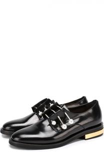 Кожаные ботинки с декорированными булавками Coliac