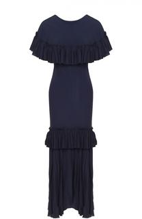 Платье-макси с оборками Marni