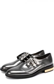 Лаковые ботинки с декорированными булавками Coliac