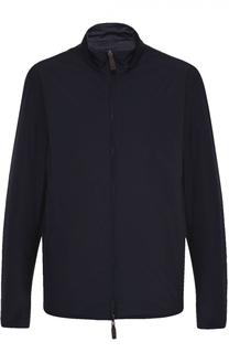 Двустороння куртка на молнии с воротником-стойкой Canali