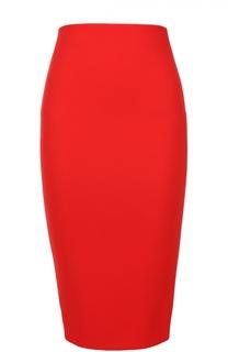 Юбка-карандаш с контрастной молнией на спинке Victoria Beckham