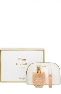 Набор Fleur De Rocaille: Туалетная вода + Туалетная вода спрей + Косметичка Caron