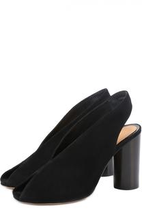 Замшевые босоножки на устойчивом каблуке Isabel Marant