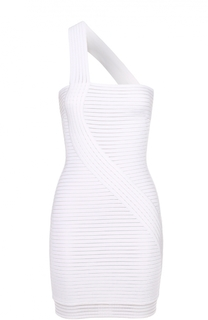 Облегающее мини-платье с фактурной отделкой Herve L.Leroux