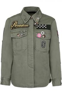 Джинсовая куртка с контрастной отделкой и накладными карманами Marc Jacobs