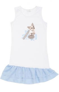 Сорочка из хлопка с принтом La Perla