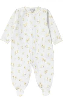 Пижама из хлопка с принтом Kissy Kissy