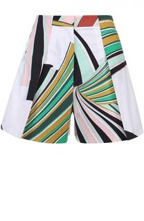 Мини-шорты с завышенной талией и цветочным принтом Emilio Pucci