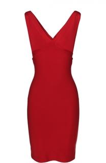 Облегающее мини-платье с V-образным вырезом Herve L.Leroux
