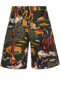Хлопковые шорты с принтом Stella McCartney