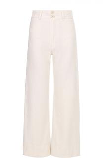 Укороченные широкие брюки с завышенной талией Apiece Apart