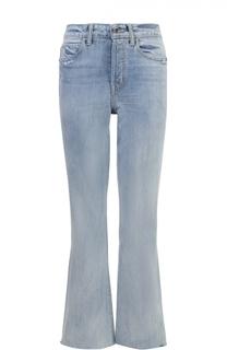 Укороченные расклешенные брюки с необработанным краем Helmut Lang