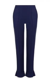 Укороченные брюки-скинни с оборкой MSGM
