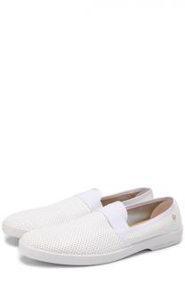 Кожаные лоферы с перфорацией Rivieras Leisure Shoes