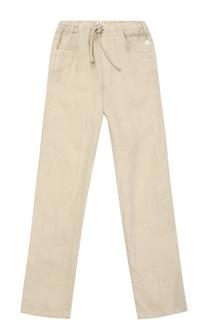 Льняные брюки прямого кроя Il Gufo