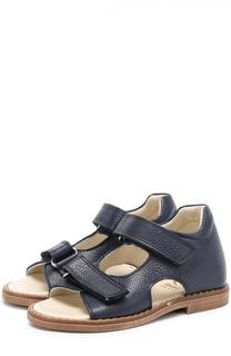 Кожаные сандалии с застежками велькро Gallucci