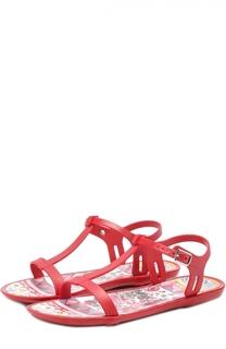 Резиновые сандалии с принтом Dolce & Gabbana