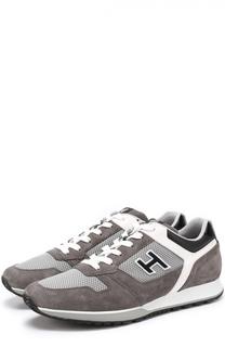 Комбинированные кроссовки с контрастной отделкой Hogan