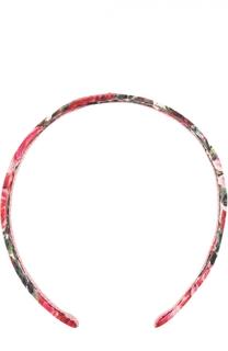 Ободок с цветочным принтом Dolce & Gabbana