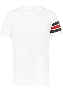 Хлопковая футболка с контрастной отделкой Burberry