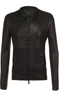 Кожаная куртка на молнии с отложным воротником Giorgio Brato