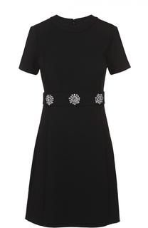 Приталенное мини-платье с декоративной отделкой MICHAEL Michael Kors