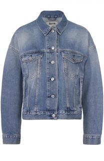 Джинсовая куртка свободного кроя со спущенным рукавом Acne Studios