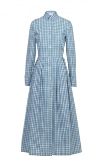 Приталенное платье-рубашка в клетку Stella Jean