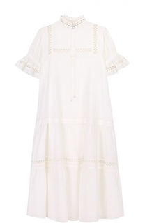 Платье свободного кроя с воротником-стойкой и рукавом-фонарик Apiece Apart