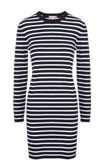 Мини-платье прямого кроя в контрастную полоску Michael Kors